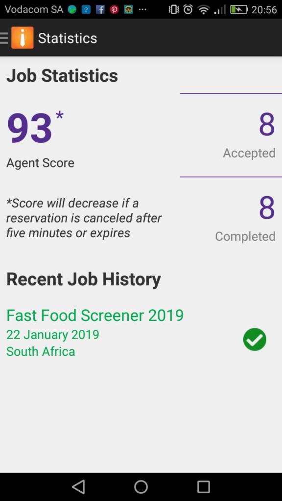 Field Agent Score