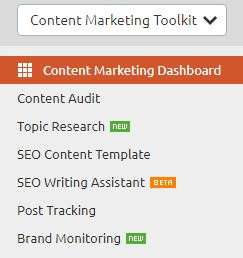 SEMrush Content Marketing