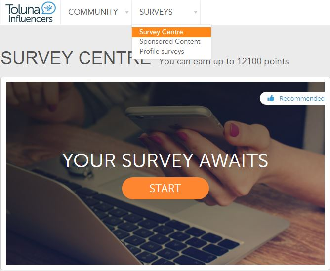 Toluna review - survey centre
